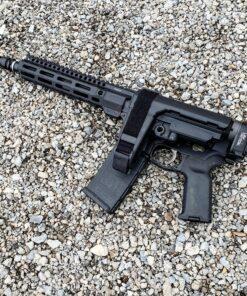 Custom AR-15 pistol with Law Folder