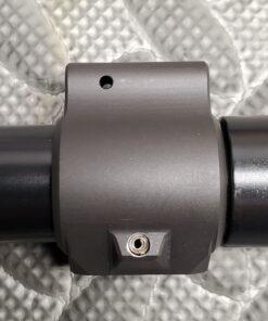 Gas block pinning